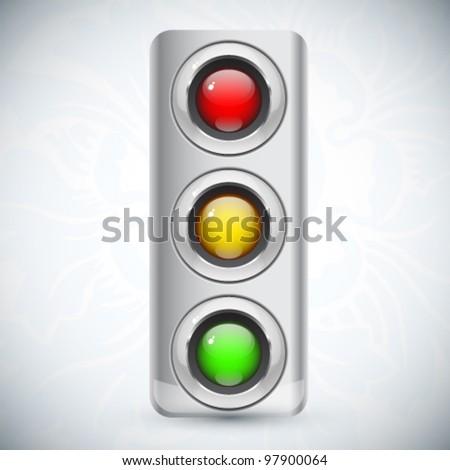 Modern vector traffic sign - stock vector