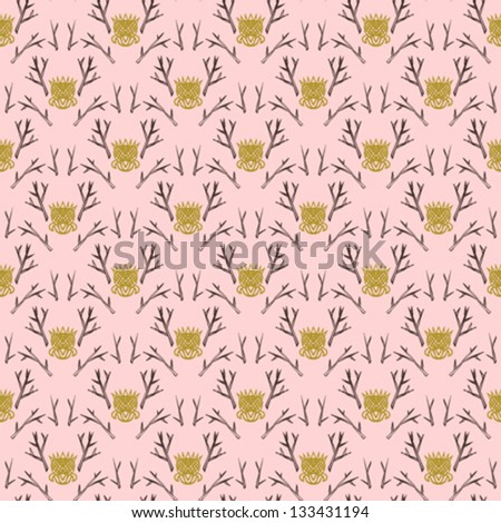 Modern version of damask pattern in hipster colors. - stock vector