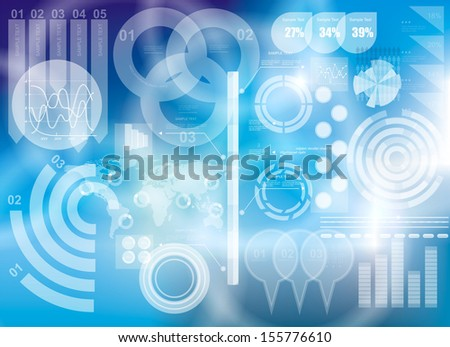 Modern virtual technology background  - stock vector