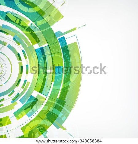 Modern virtual technology background. glowing abstract shapes on the blue. Vector Illustration, eps10, contains transparencies. - stock vector