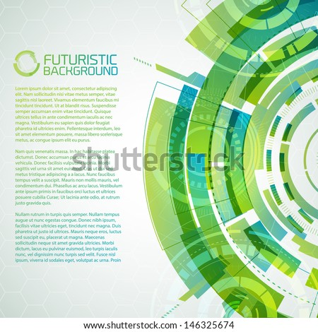 Modern virtual technology background. Vector Illustration, eps10, contains transparencies. - stock vector