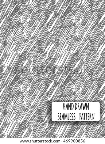 Modern Wallpaper Print Seamless Patterns In Sketch Style On Transparent Background Hand Drawn Pen Shading