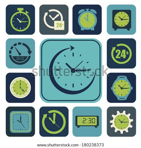 modern watch square design over  white background vector illustration