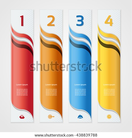 Modern wave infographics options banner. Vector illustration. can be used for workflow layout, diagram, number options, web design. - stock vector