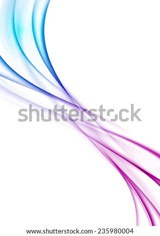 Modern wave swoosh abstract background design. Vector illustration - stock vector