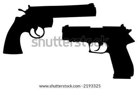 modern weapons - vector illustrations - stock vector