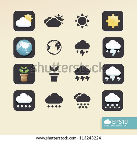 Modern weather color Design / can be used for info graphics / button graphic or website layout vector - stock vector