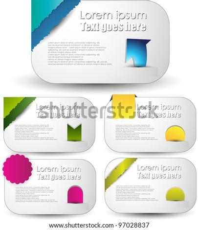 modern web banner set - stock vector