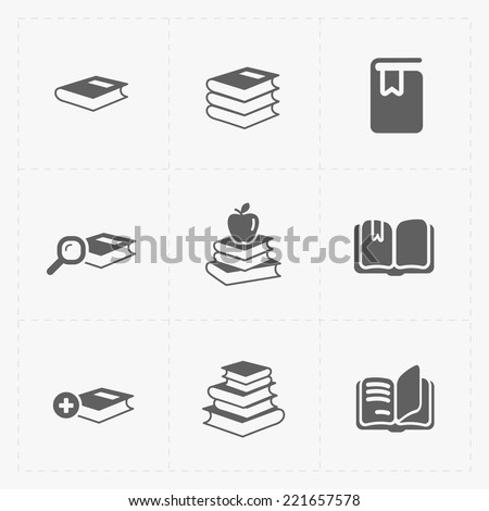 Modern Web Books set on White. - stock vector