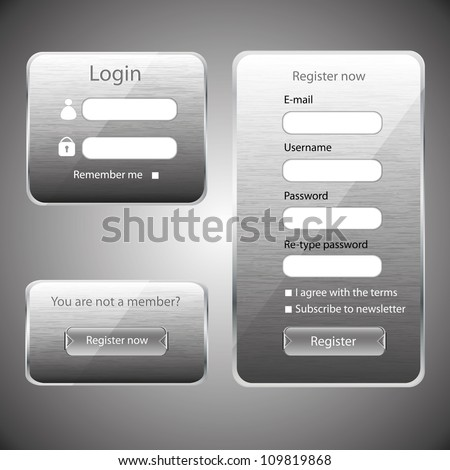 Modern web card login form