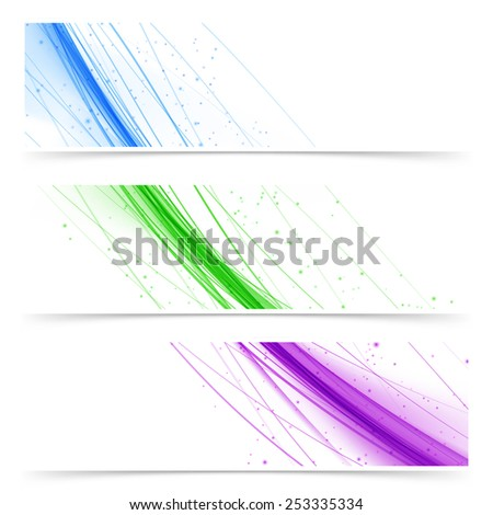 Modern web colorful bright banners collection in many colors. Vector illustration - stock vector