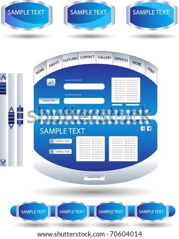 modern web design template - stock vector