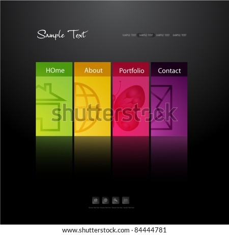 modern web design template - stock vector