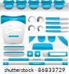 modern web designing element in blue theme easy to edit vector - stock vector