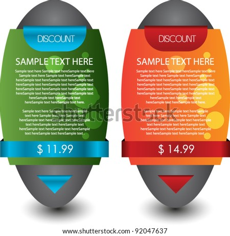 modern web sale banner set - stock vector