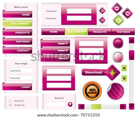 Modern website template frames - vector - stock vector
