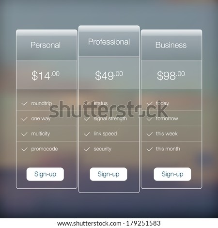 user interface design document template - pricing table template stock images royalty free images