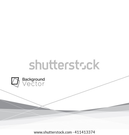 Modern white gray line abstract background, border design - minimalist concept with copy space - stock vector