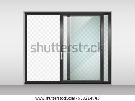 sliding door stock images royalty free images vectors shutterstock. Black Bedroom Furniture Sets. Home Design Ideas