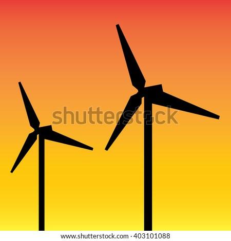 modern wind mill-vector - stock vector