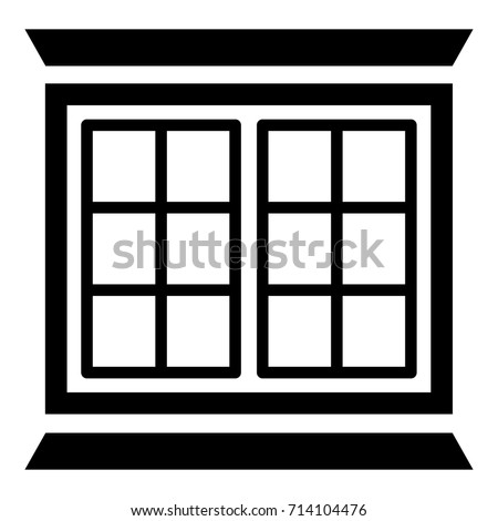 Modern Window Frame Icon Simple Illustration Stock Vector (2018 ...