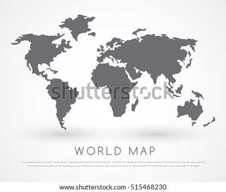 Modern world map vector illustration stock vector hd royalty free modern world map vector illustration gumiabroncs Image collections