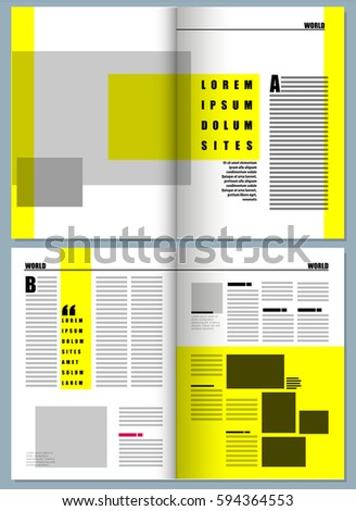 Magazine Template Stock Images, Royalty-Free Images & Vectors ...