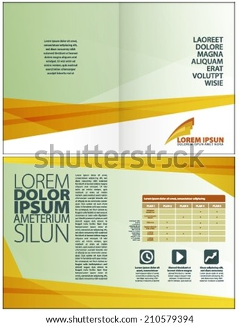 Modern yellow template made with squares, for corporate design