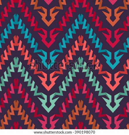 Modern Zigzag Chevron Pattern for Textile Design. Seamless Tribal Weave Vector Background - stock vector