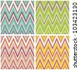 modern zigzag chevron pattern in various colors - stock vector