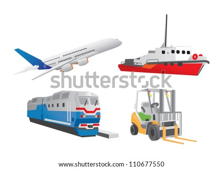 Modes of transport - stock vector