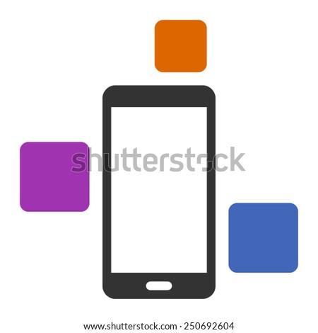 Modular smart phone with different modules - stock vector