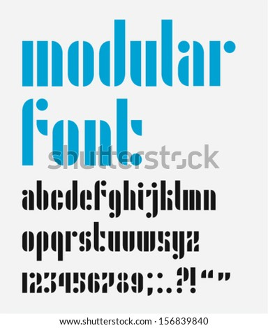Modular Stencil Font Letters Numbers And Punctuation