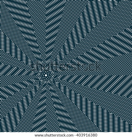 Moire pattern, op art vector background. Relaxing hypnotic backdrop with geometric black lines. Abstract tiling.