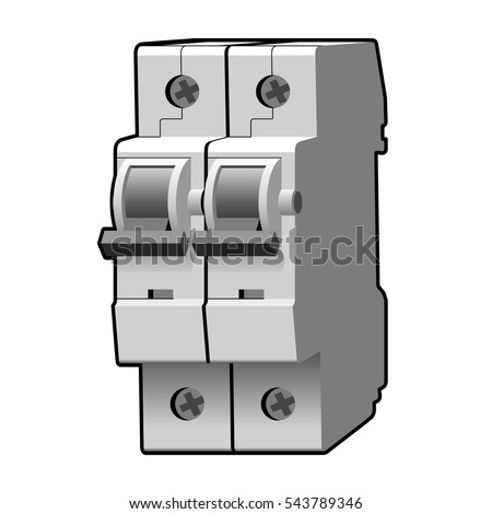 Molded Case Circuit Breaker Fuse Vector Stock-Vektorgrafik 543789346 ...