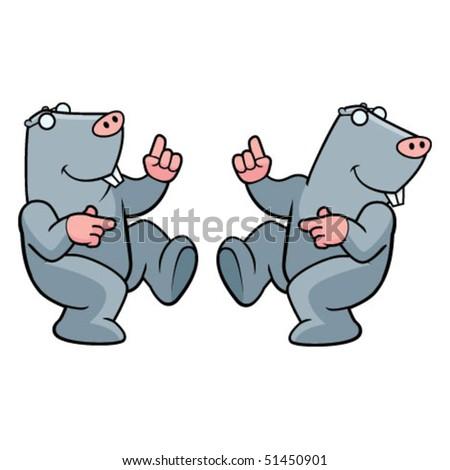 Mole Dancing - stock vector