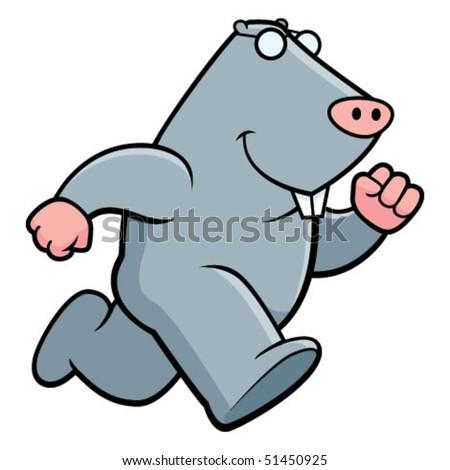 Mole Running - stock vector