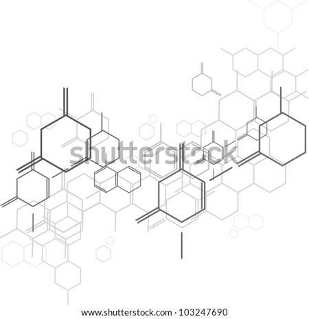 Molecular background - stock vector
