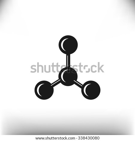 molecular compound web icon. vector design - stock vector