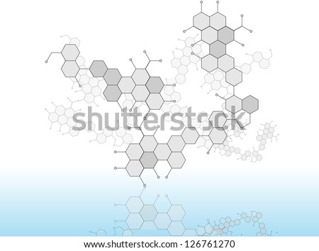 Molecular Medicine chromosome vector EPS 10 - stock vector