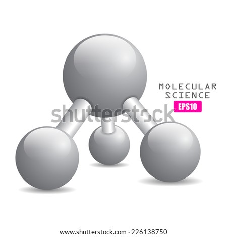 Molecular science icon - stock vector