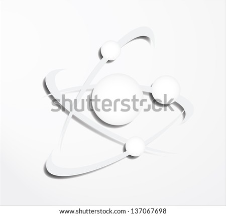 Molecular structure - stock vector