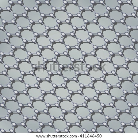 Molecular structure, atomic structure and science concept. Technology molecular sieve.  Abstract background.  Vector illustration - stock vector