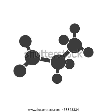 Molecular structure icon. Molecular structure Vector isolated on white background. Flat vector illustration in black. EPS 10 - stock vector