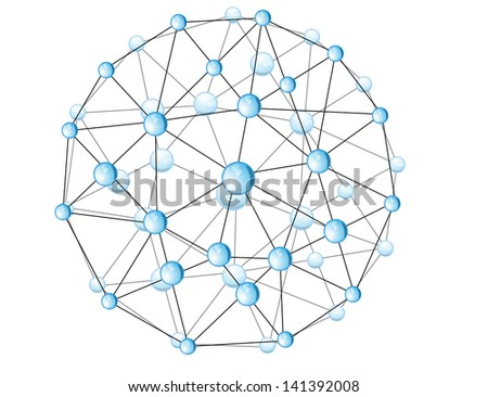 molecular structure in the form of a sphere. Eps 10 - stock vector