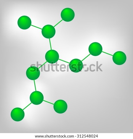 Molecular structure, medical research, molecule, atom, proton and electron , science, chemistry, biology, medicine and genetics - stock vector