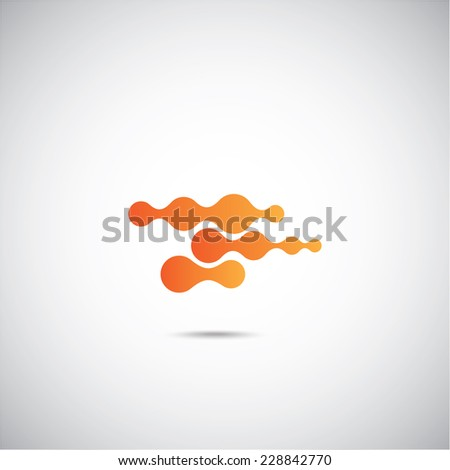 Molecular structure on the gray background - stock vector