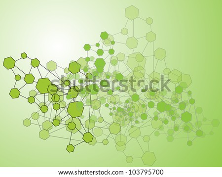 molecule abstract background vector. - stock vector