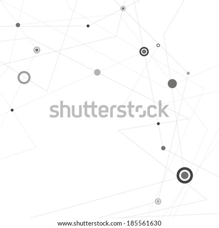 Molecule And Communication Background - Vector Illustration - stock vector