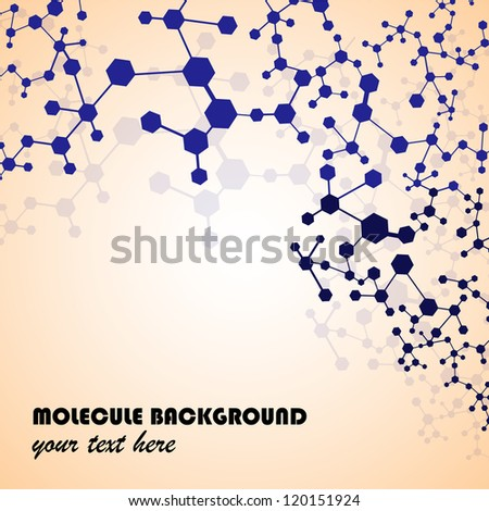 Molecule And Communication Isolated On Background - Vector Illustration, Graphic Design Useful For Your Design - stock vector